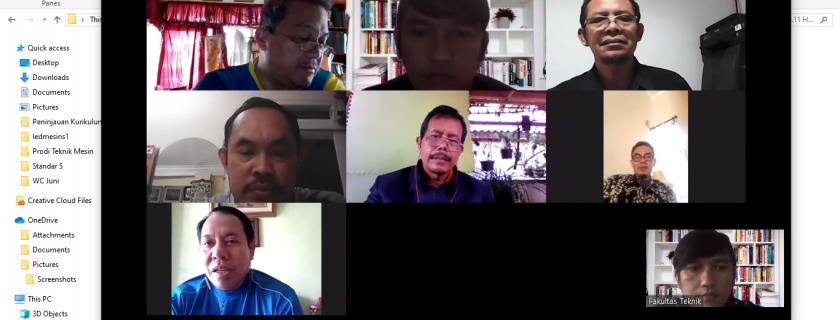 Rapat Koordinasi Fakultas Teknik Dan Dosen Tetap Teknik Mesin Juni 2020