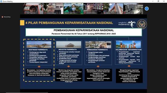 Rapat Koordinasi  Fakultas Teknik Universitas Widyatama Bersama Kementerian Pariwisata Dan Ekonomi Kreatif Ri (Kemenparekraf)