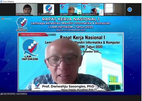 Paparan Materi Rakornas 1 LAM INFOKOM  Oleh Ketua Majelis Akreditasi BAN PT.