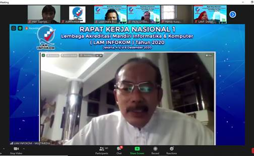 Paparan Materi pada RAKORNAS 1 tentang LAM INFOKOM Oleh Ketua APTIKOM Jawa Barat