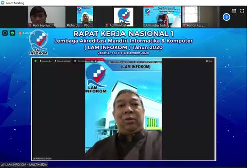 Paparan Materi pada  RAKORNAS 1  tentang LAM INFOKOM Oleh Prof.Richardus Eko Indrajit